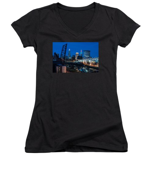 City Of Bridges Women's V-Neck