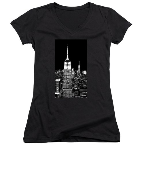 City Of The Night Women's V-Neck (Athletic Fit)