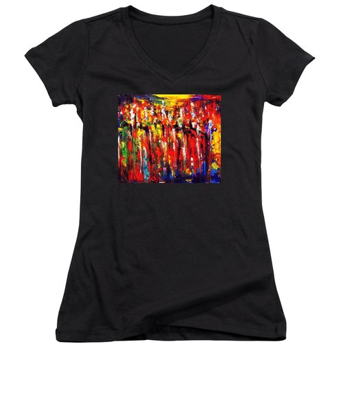 City. Series Colorscapes. Women's V-Neck T-Shirt
