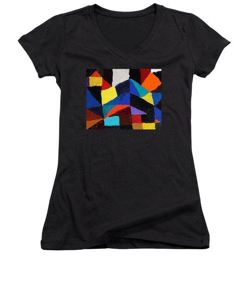 Cityscape Women's V-Neck T-Shirt (Junior Cut) by Ralph White