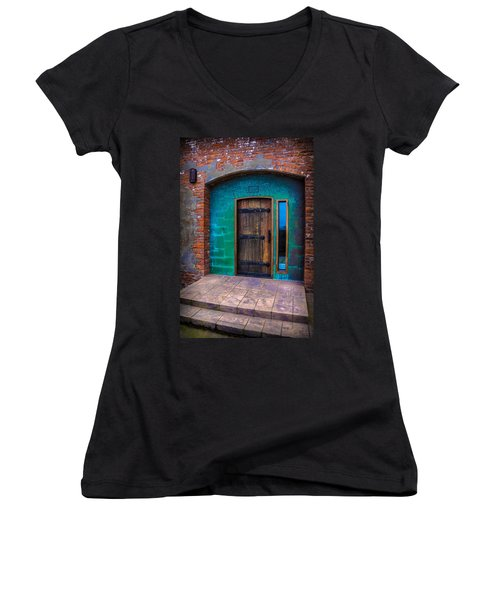 Clam Cannery Door Women's V-Neck (Athletic Fit)