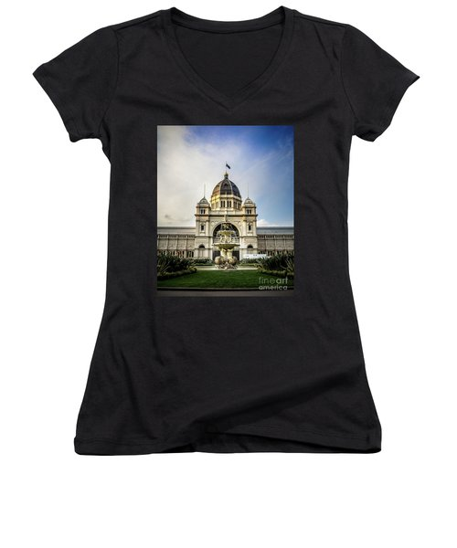 Women's V-Neck T-Shirt (Junior Cut) featuring the photograph Classic Buld by Perry Webster
