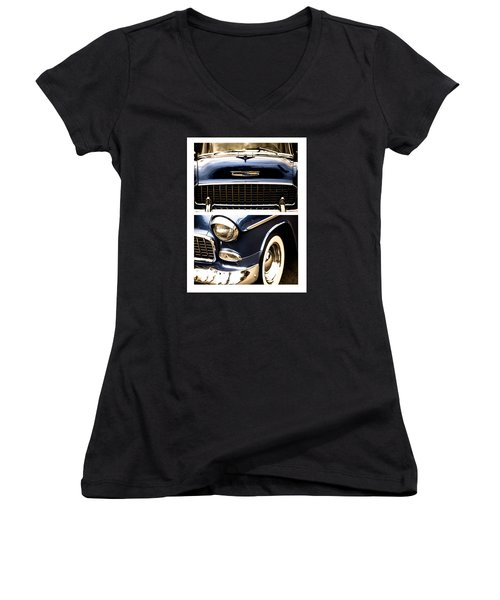 Women's V-Neck T-Shirt (Junior Cut) featuring the photograph Classic Duo 4 by Ryan Weddle