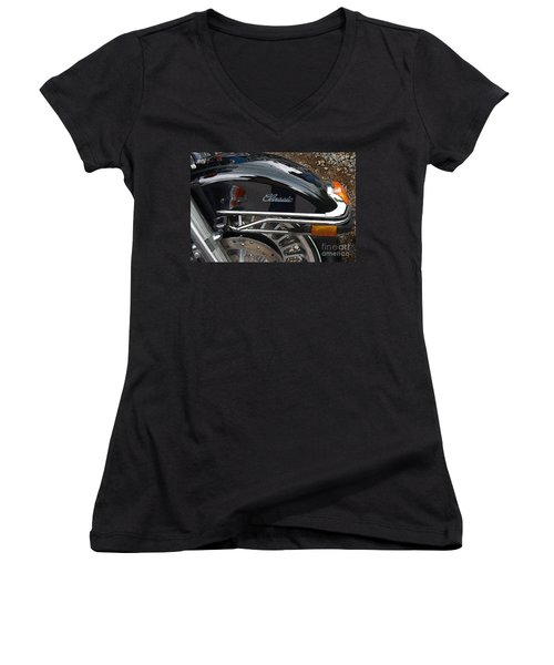 Classic  Women's V-Neck T-Shirt (Junior Cut) by Diane E Berry