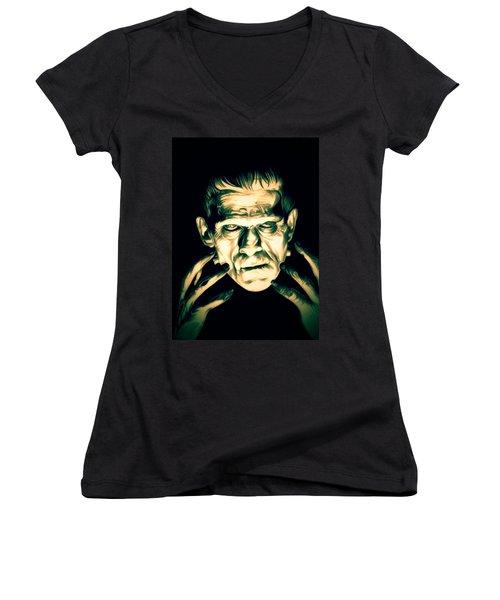 Classic Frankenstein Women's V-Neck
