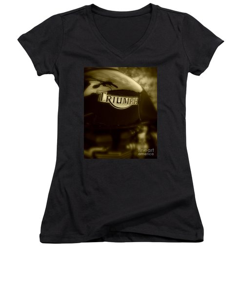 Classic Old Triumph Women's V-Neck T-Shirt