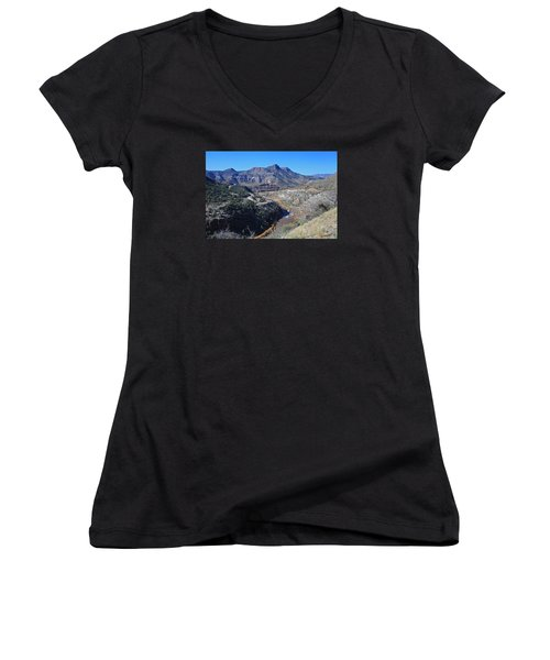 Clear And Rugged Women's V-Neck T-Shirt (Junior Cut) by Gary Kaylor