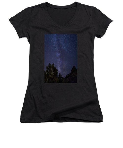 Clear Night In Ruidoso Women's V-Neck T-Shirt