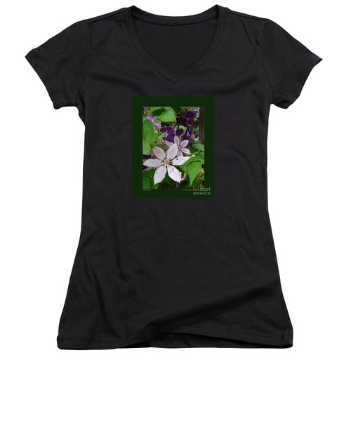 Clematis-ii Women's V-Neck (Athletic Fit)