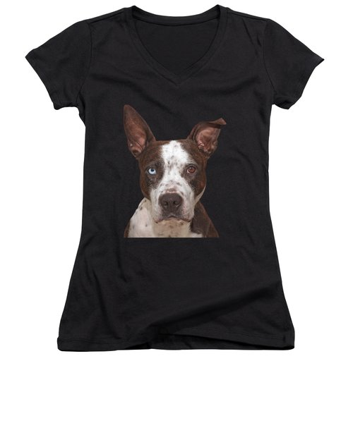 Cleo  Women's V-Neck T-Shirt (Junior Cut) by Brian Cross