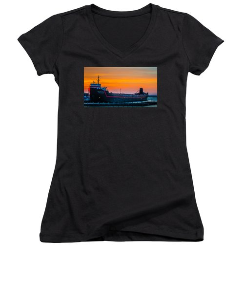 Cleveland Sunset Women's V-Neck