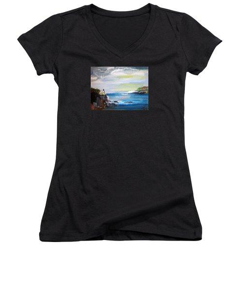 Cliffs By Colleen Ranney Women's V-Neck