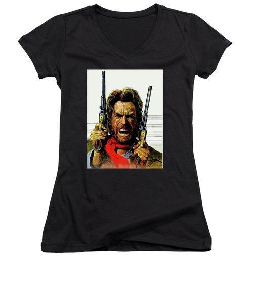 Clint Eastwood As Josey Wales Women's V-Neck
