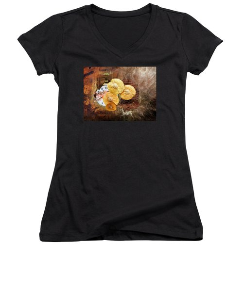 Clock Girl Women's V-Neck T-Shirt