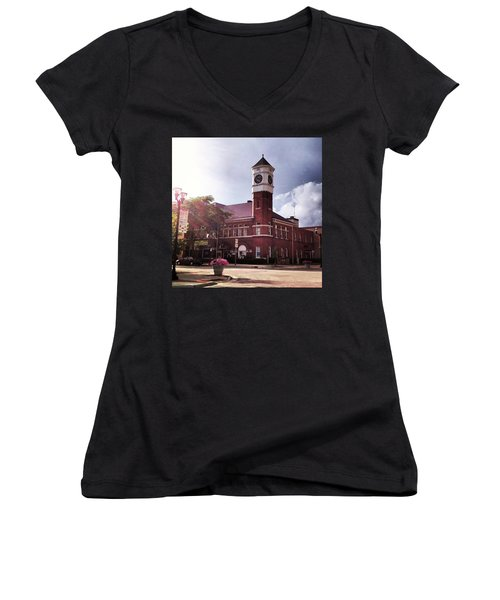 Clocktower Sunshine Women's V-Neck T-Shirt