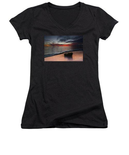 Cloud Choir Women's V-Neck T-Shirt (Junior Cut) by Kym Clarke
