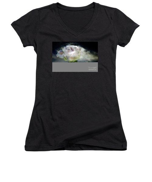 Cloud Rose Women's V-Neck T-Shirt