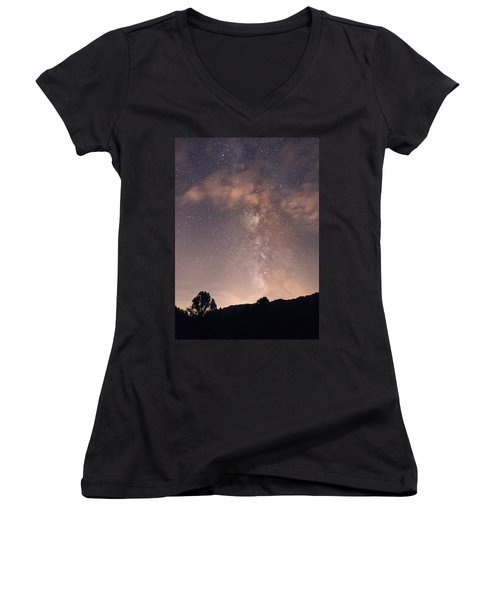 Clouds And Milky Way Women's V-Neck