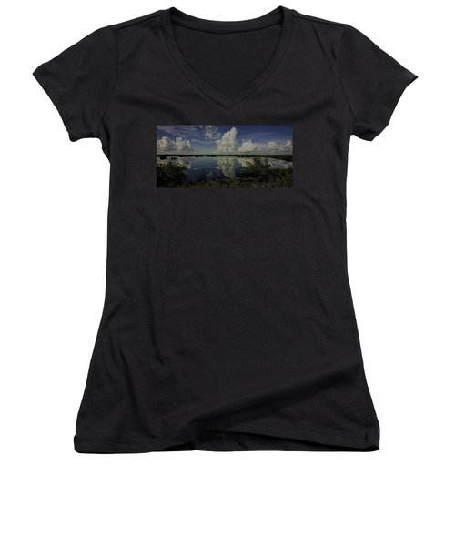 Clouds And Reflections Women's V-Neck