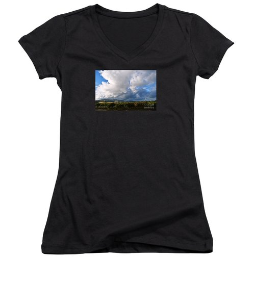 Clouds Over Napa County Women's V-Neck T-Shirt