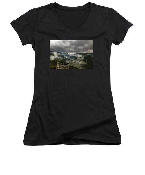 Clouds Rising At Lindy Point Women's V-Neck