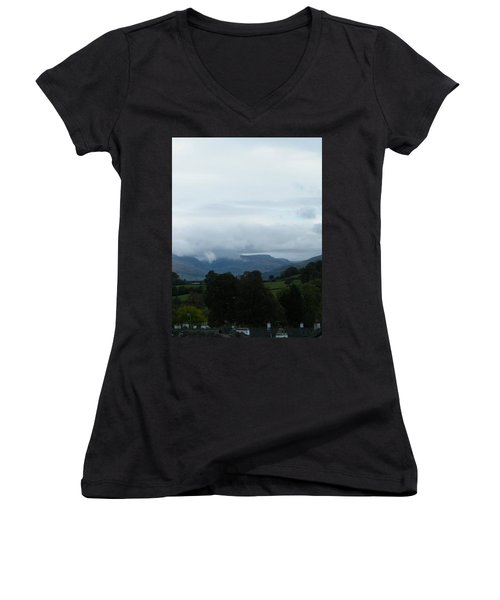 Cloudy View Women's V-Neck (Athletic Fit)