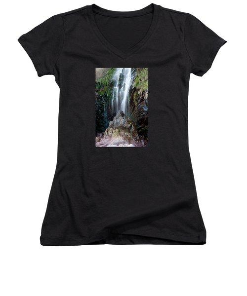 Clovelly Waterfall Women's V-Neck T-Shirt