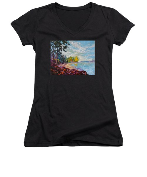 Coastal View Women's V-Neck (Athletic Fit)