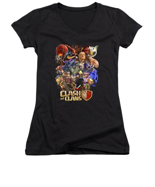 Coc Troops Women's V-Neck T-Shirt
