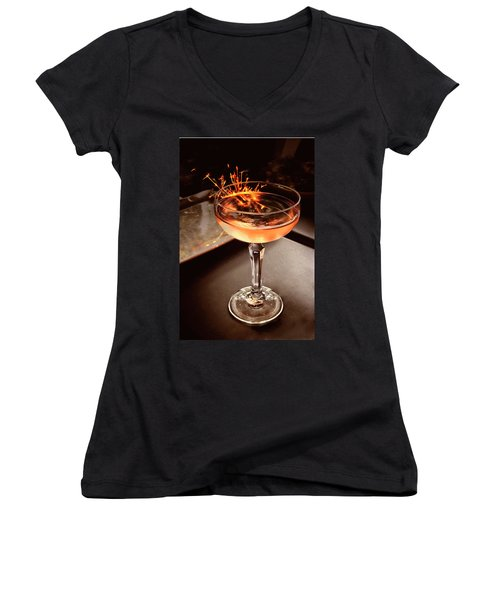 Cocktail Dazzle Women's V-Neck