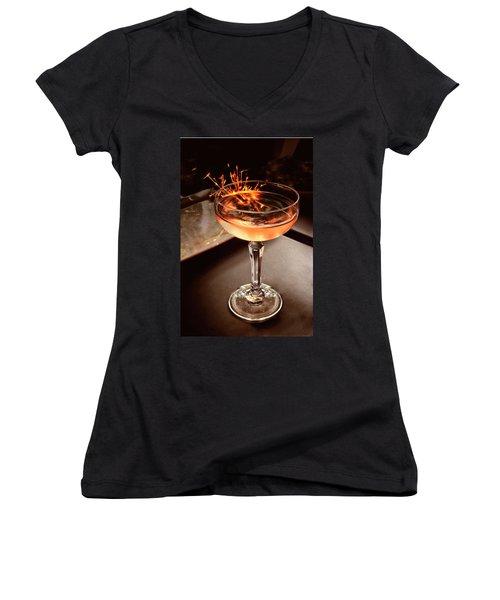 Cocktail Dazzle Women's V-Neck
