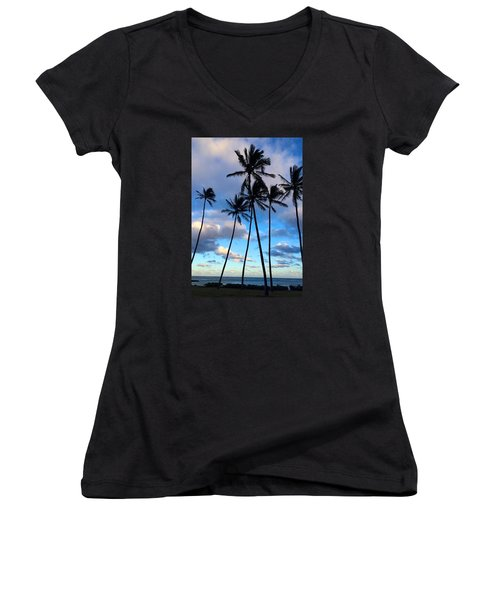 Coconut Palms Women's V-Neck (Athletic Fit)