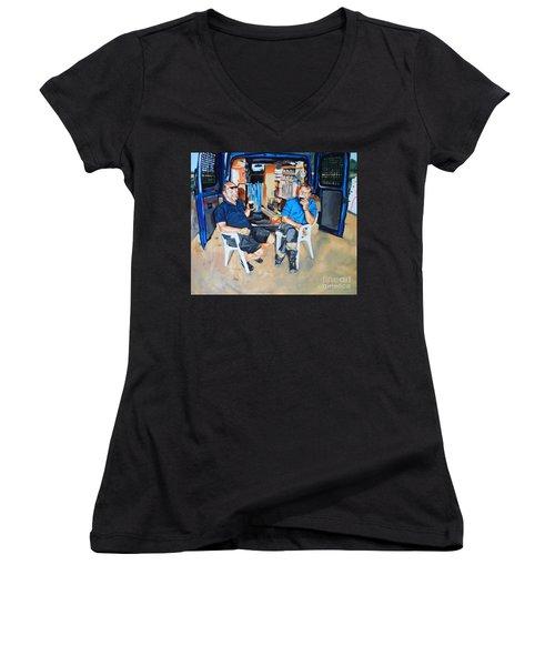 Coffee Break Women's V-Neck T-Shirt