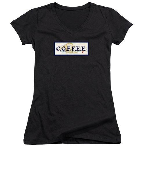 Coffee For Christ Women's V-Neck T-Shirt