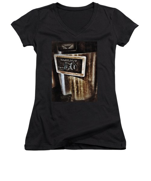 Coffee Time Women's V-Neck (Athletic Fit)