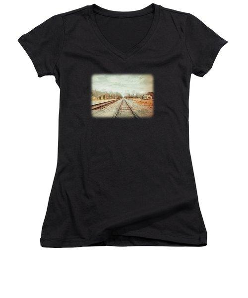 Col. Larmore's Link Women's V-Neck T-Shirt (Junior Cut) by Anita Faye