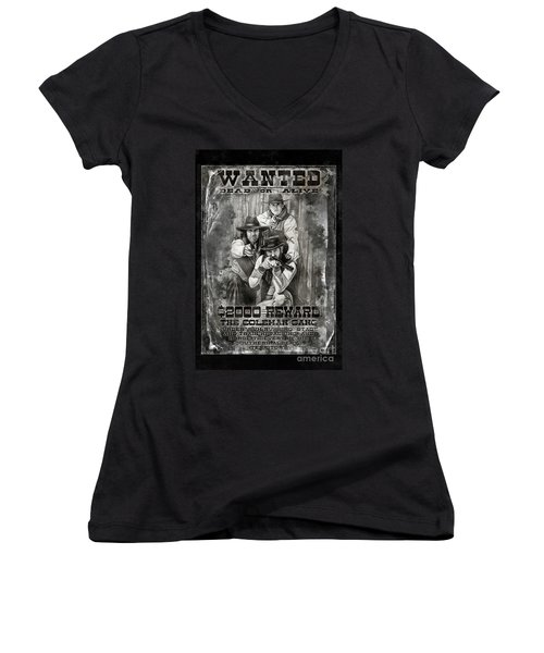Coleman Gang Wanted Poster Women's V-Neck