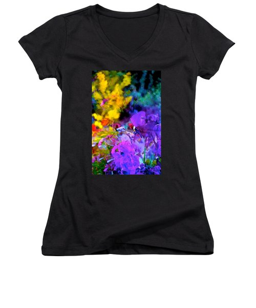 Color 102 Women's V-Neck T-Shirt (Junior Cut) by Pamela Cooper