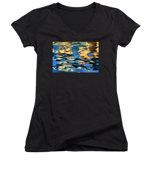 Color Abstraction Lxix Women's V-Neck (Athletic Fit)