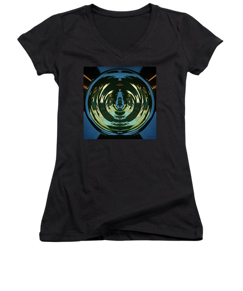 Women's V-Neck T-Shirt (Junior Cut) featuring the photograph Color Abstraction Lxx by David Gordon