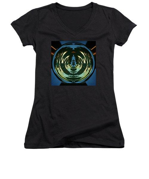 Color Abstraction Lxx Women's V-Neck T-Shirt (Junior Cut) by David Gordon