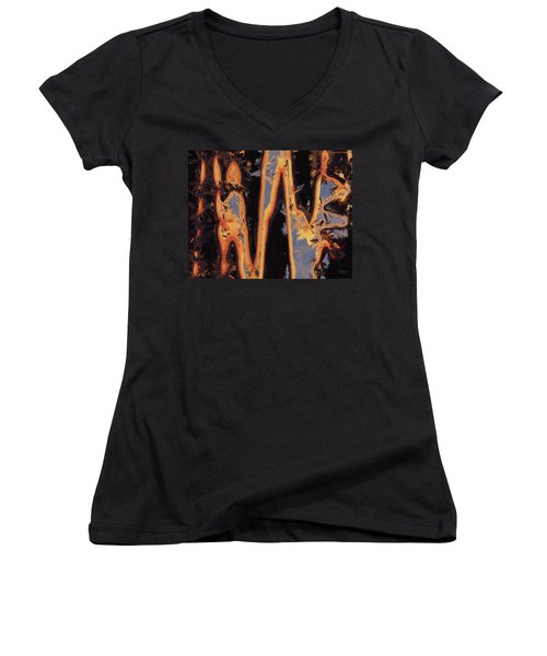 Color Abstraction Xli Women's V-Neck T-Shirt