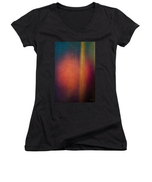 Color Abstraction Xxvii Women's V-Neck T-Shirt (Junior Cut) by David Gordon