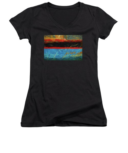Color Abstraction Xxxix Women's V-Neck