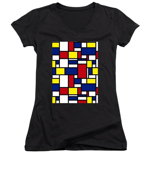 Color Box Women's V-Neck T-Shirt
