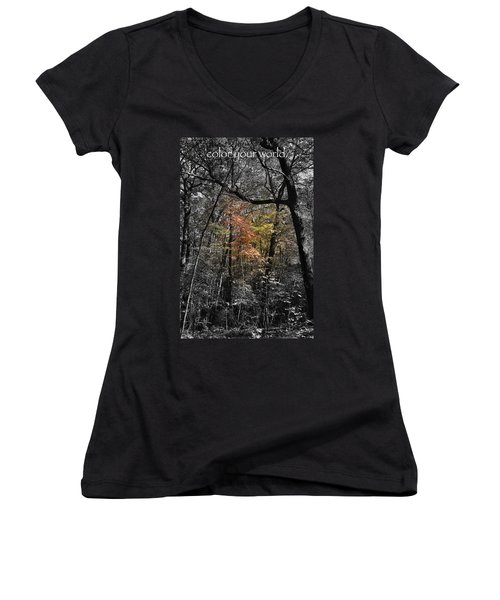 Color Your World Women's V-Neck T-Shirt
