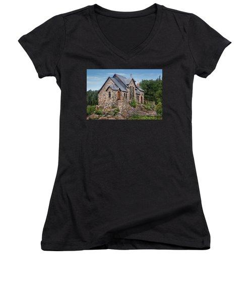 Colorado Chapel On The Rock Women's V-Neck