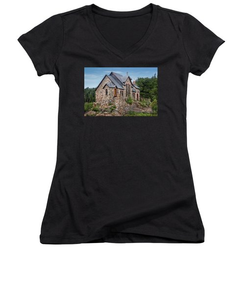 Colorado Chapel On The Rock Women's V-Neck