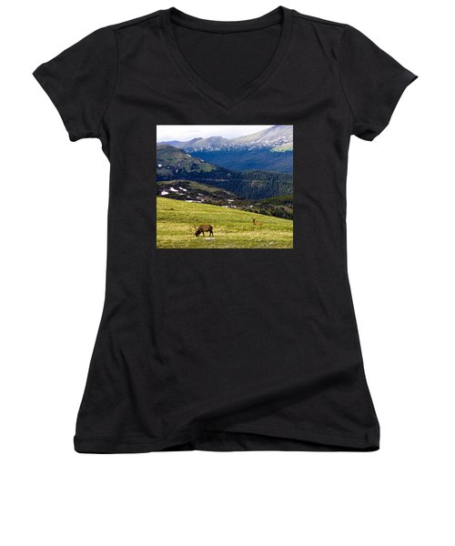 Colorado Elk Women's V-Neck (Athletic Fit)