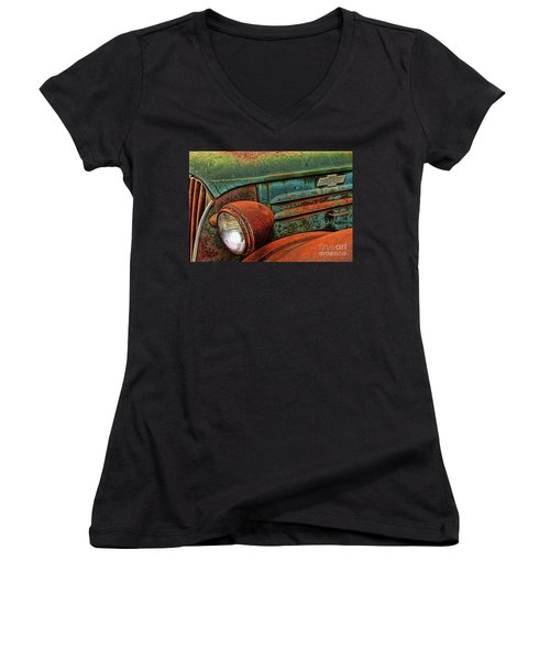 Colorful Rust Women's V-Neck (Athletic Fit)